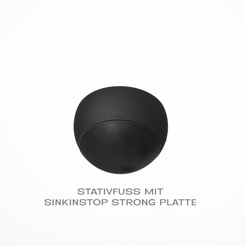 """Stativfüsse  """"SINKINSTOPP All Terrain"""" mit einzigartigen Wechselplattensystem für jedes Gelände."""